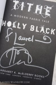 Holly Black's signature in Tithe