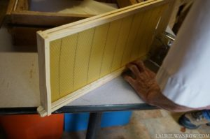 Making bee hive frames