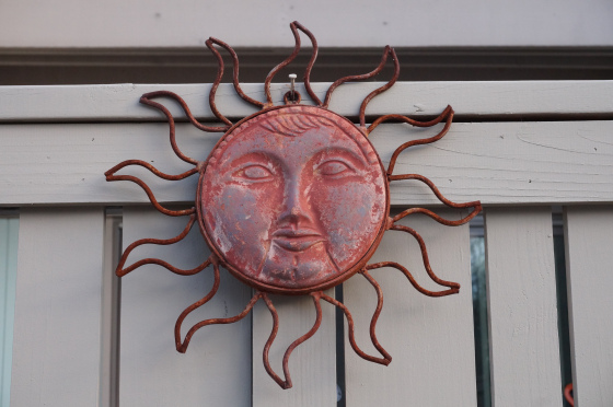 sun garden ornament